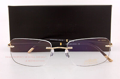Silhouette Eyeglass Frames Hinge C-2 Collection 5424 6051 23Kt  Gold SZ 55