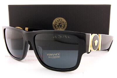 New VERSACE Sunglasses VE 4369 GB1/87 Black/Gray for Men Women