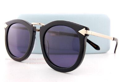 6d807d5958f62 Brand New KAREN WALKER Sunglasses Super Lunar Black Gold Smoke 1601433 Women