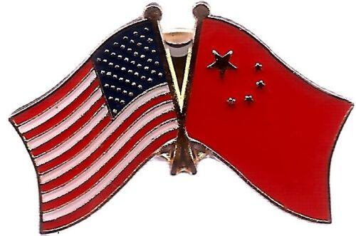 LOT OF 12 Chinese Friendship Flag Lapel Pins - China Flag Pin