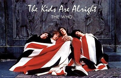 THE WHO ~ KIDS ARE ALRIGHT ~ 24x36 HORIZONTAL MUSIC POSTER Flag Pete Townshend