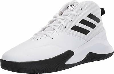 Adidas Mens OwnTheGame Basketball Shoes. Color- White Black. Choose Size