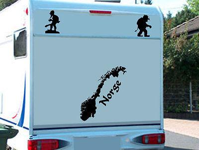 Norwegen Norge Aufkleber für das Wohnmobil Wohnwagen