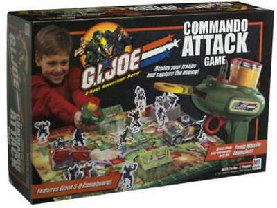 Foam Missile - G.I. Joe COMMANDO ATTACK GAME Milton Bradley With Foam Missile Discs &Launcher