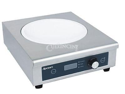 Adcraft Wok Induction Cooker Glass Stainless Steel Commercial - Ind-Wok208V