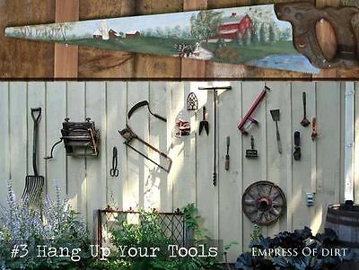Deine Werkzeuge lassen sich prima als Dekoration verwenden