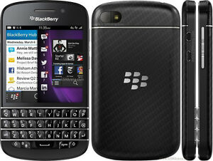 Blackberry Q10 16GB, Bell/Virgin, No contract *BUY SECURE*