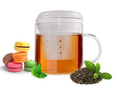 Teeglas mit Teesieb aus Porzellan Teefilter Teezubereiter Teebecher Teetasse