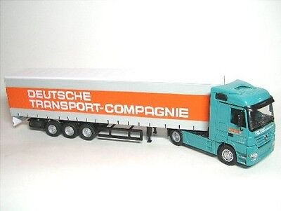 Mercedes-Benz Actros Gardine Semi-Trailers German Trans Company Dtc