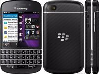 BLACKBERRY Q10 BLACK COLOUR UNLOCKED TO ALL NETWORKS IN GOOD CONDITION WITH CHARGER UNLOCKED