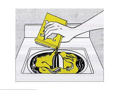 Washing Machine by Roy Lichtenstein - 30x24 Print Poster OUT OF PRINT LAST ONES