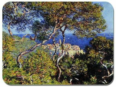 Monet Art Mouse Pad (Claude Monet Bordighera Mouse Mat. High Quality Classic Fine Art Print Mouse Pad )
