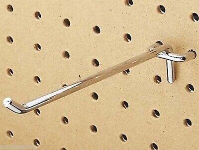 100 Pc Heavy Duty Steel 18 X 6 Peg Board Hooks Shelf Hanger