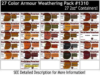 Doctor Ben's ARMOR/MILITARY/AUTO Weathering Pigment Set & Booklet -DBZ03