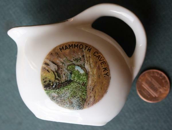 1950-60s Era Mammoth Cave City Kentucky jug designed creamer-VINTAGE!