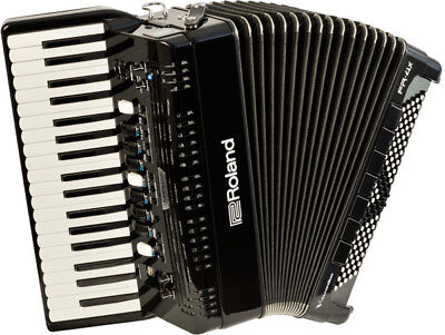 Accordion Roland FR-4X BK Black BAG-FR3 Charger set solo performance from Japan