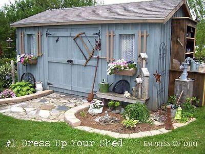 Verschönere doch einfach Dein Gartenhaus
