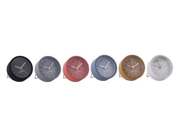 Karlsson Wecker mini assorted Ø 5 cm rund analog Reisewecker inkl. Batterie