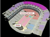 X2 BRITNEY SPEARS 24TH AUGUST 02 ARENA PIECE OF ME- GROUND FLOOR SEATS CLOSE TO STAGE- SOLD OUT