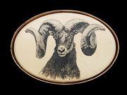 Big Horn Sheep Belt Buckle