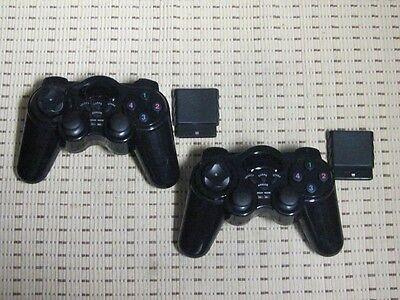2 Funk Controller für Playstation 2 PS2 Wireless Dual Vibration Gamepad PS2 NEU