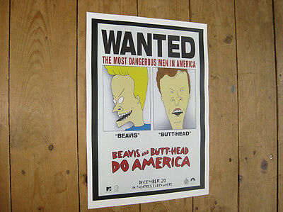 Beavis and Butt Head Do America Wanted POSTER