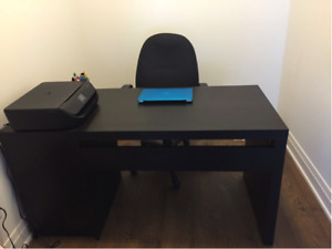 Desk, black-brown (IKEA)