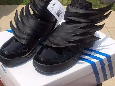 f001cf00a2f6 ... Adidas Jeremy Scott Wings 3.0 BLACK Dark Knight Batman Shoes Women s  sizes NWB фото ...