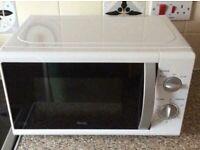 New Swan SM40010N Manual Microwave 800 Watt - White