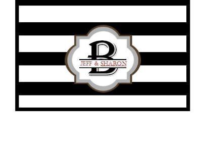 Personalized Black And White ( Black and White Stripe monogram Personalized VINYL Checkbook Cover 27 COLORS )