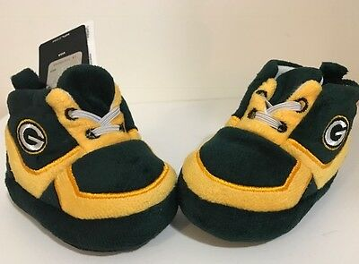 Green Bay Packers Baby Sneaker Booties Slipper Infant Shoes Newborn **free ship* - Green Bay Packers Infant