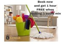 LUXCOR CLEANING SERVICES ------》FREE hour of cleaning ON US!
