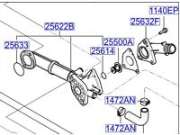 Hyundai ATOS/ GETZ Thermostat Housing 2562202502