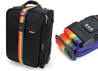 1.7m Password Coded Lock Luggage Suitcase BackpackBag Strap Band Belt Name - Name Tages