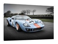FORD GT 40 BLUE Super Sports Cars Large Wall Art Canvas Picture AU330  MATAGA