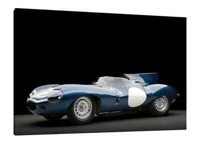 1955 Jaguar D-Type - 30x20 Inch Canvas - Classic Car Framed Picture Print Art d'occasion  Expédié en Belgium