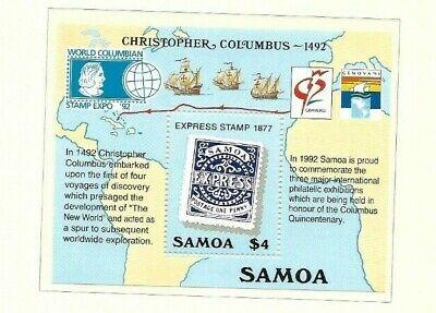 Samoa 1992 Columbus min sheet MNH