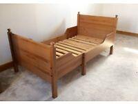 Ikea leksvik extendable bed in pine!
