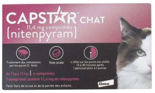 CAPSTAR for CATS  2-25 lbs - 6 count EXP.2022