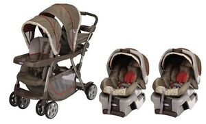 Graco-Ready2Grow-LX-Duo-Baby-Stoller-Car-Seat-Twin-Travel-System-Forecaster