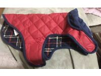 """Reversible quilted dog jacket 17"""""""