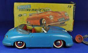 Blechauto / Tin Car Distler Electromatic 7500 blau / blue, Porsche 356, 1955-62
