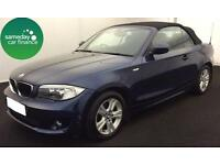 £201.76 PER MONTH BLUE 2011 BMW 118 2.0 SE CONVERTIBLE DIESEL MANUAL