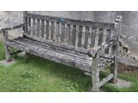 Garden bench in any condition