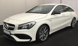 MERCEDES-BENZ CLA WHITE S/BRAKE 2.1 AMG SPORT ESTATE DIESEL FROM £170 PER WEEK!