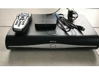 Sky+HD box with wireless router and remote