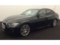 Black BMW 335i M Sport Auto Leather Upgrade Alloys FROM £83 PER WEEK!
