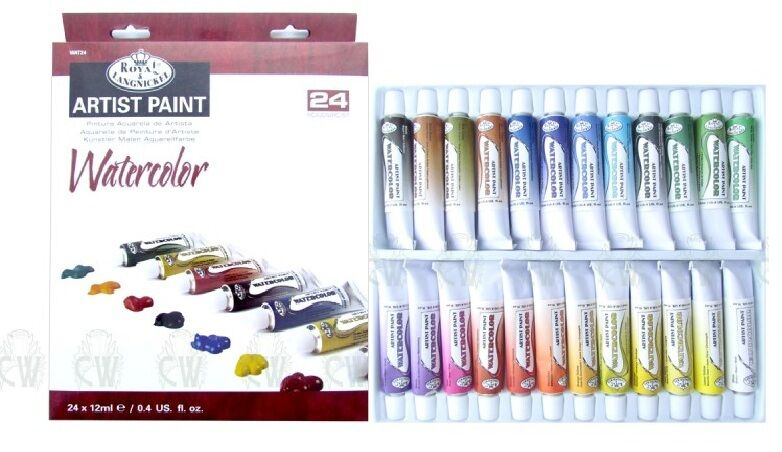 24 pc Watercolor Paint Tubes Set Royal Langnickel Painting Art Supplies