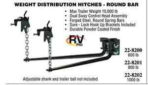 """RV Pro"" round bar weight distribution hitch"