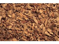 Woodchips for gardens and riding arenas